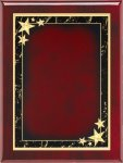 Rosewood Plaque - Red Star Achievement Piano Finish Rosewood Plaques