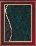 Rosewood Plaque - Green Swirl Piano Finish Rosewood Plaques