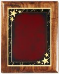 Walnut Gloss Plaque - Red Star Achievement Piano Finish Walnut Plaques