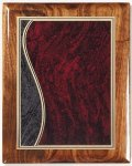 Walnut Gloss Plaque - Sienna Swirl Piano Finish Walnut Plaques