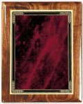 Walnut Gloss Plaque - Red Marble Mist Piano Finish Walnut Plaques