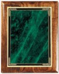 Walnut Gloss Plaque - Green Marble Mist Piano Finish Walnut Plaques