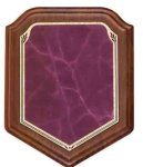 Heritage Walnut Shield - Rose Shield Plaques