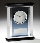 Smoked Glass Mantle Clock Smoked Glass Awards