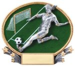 Soccer 3D Oval Trophy (Female) Soccer Trophies