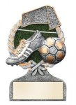 Soccer Multi Color Sport Resin Figure Soccer Trophies