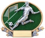 Soccer 3D Oval Trophy (Male) Soccer Trophy Awards