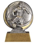 Soccer 3D Motion Trophy (Female) Soccer Trophy Awards