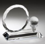 Crystal Award with Golf Tee Sport Crystal Awards
