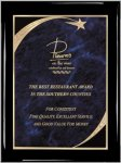 Ebony Plaque - Blue Star Sweep Star Plaques