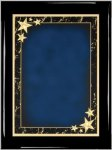 Ebony Plaque - Blue Star Achievement Star Plaques