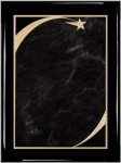 Ebony Plaque - Grey Star Sweep Star Plaques