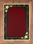 Walnut Plaque - Red Star Achievement Star Plaques