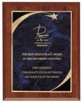 Economy Plaque - Blue Star Sweep Star Plaques