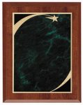 Economy Plaque - Green Star Sweep Star Plaques