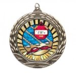 Wreath Insert Medal - Swimming Swimming Medals