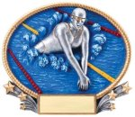 Swimming 3D Oval Trophy (Female) Swimming Trophies