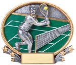 Tennis 3D Oval Trophy (Male) Tennis Trophy Awards