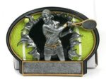 Tennis Burst Thru Trophy (Female) Tennis Trophy Awards
