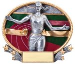 Track 3D Oval Trophy (Female) Track & Field Trophies