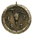 Wreath Medal - Track and Field Track Medals