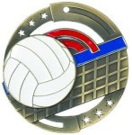 Color Star Medal - Volleyball Volleyball Medals