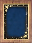 Walnut Plaque - Blue Star Achievement Walnut Plaques