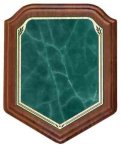Heritage Walnut Shield - Green Walnut Plaques