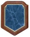 Heritage Walnut Shield - Blue Walnut Plaques