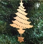Christmas Tree Ornament Wood Christmas Ornaments
