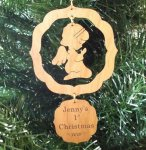 Angel Christmas Ornament 2 Wood Christmas Ornaments