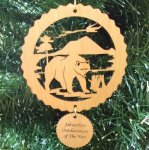 Bear Christmas Ornament Wood Christmas Ornaments